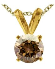 Chocolate Diamond Solitaire Pendant