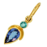 paraiba tourmaline and tanzanite pendant