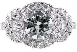 art deco engagement rings round brilliant