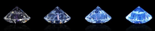 Blue Diamond Fluorescence