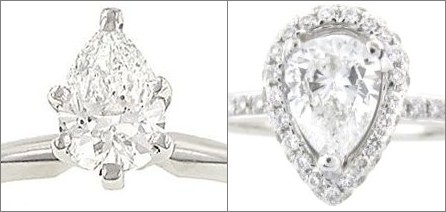Settings for Pear Shaped Engagement Rings