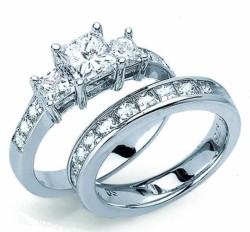 princess cut engagement rings in channel setting