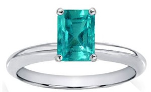 Emerald Engagement Rings Colombian Solitaire