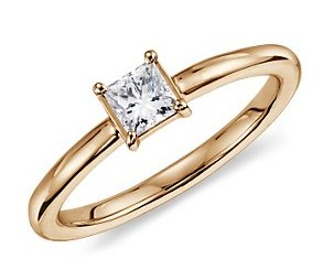 Princess Cut Engagement Rings in Four Prong Setting