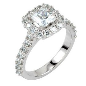 princess cut engagement rings pave setting