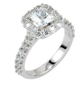 princess cut engagement rings pave setting