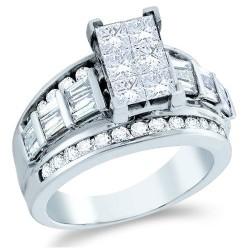 invisible setting princess cut engagement rings